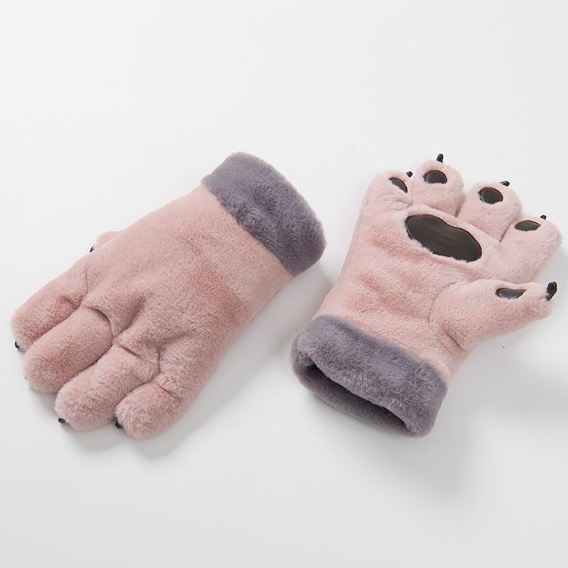 Beast claw wind girl bear paw winter velvet girl beast girl student gloves glove man plus lovely furry winter doll