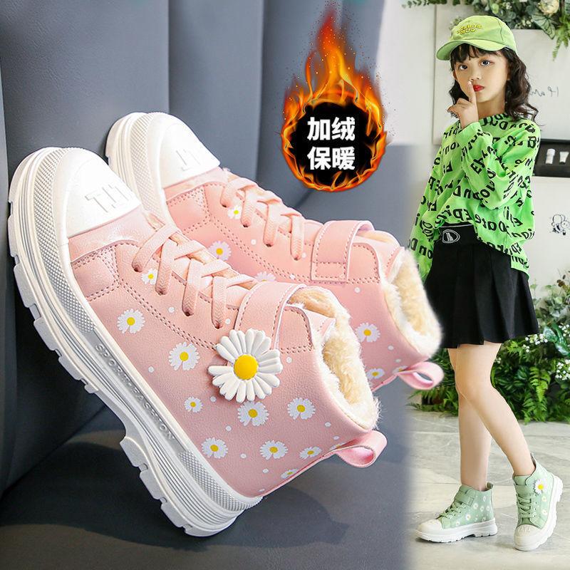 女童棉鞋加绒加厚童鞋冬季新款儿童鞋中小学生防滑防水保暖马丁靴