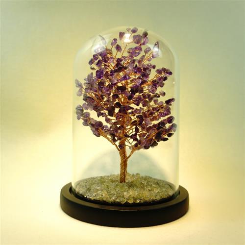 High grade new products pure handmade crystal natural yellow crystal purple water sky powder crystal tourmaline olive Zhaoshi Caifa tree shake luxury