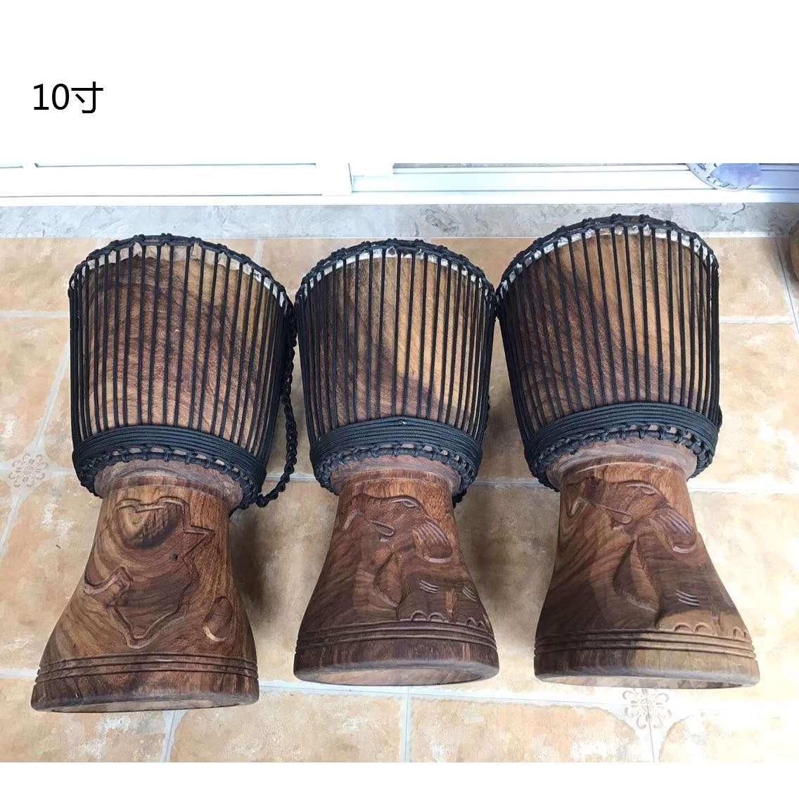 阿非手鼓 10寸11寸加纳原产非洲鼓 整木手工