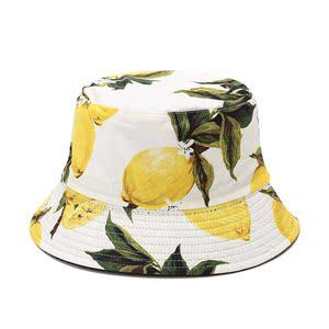 尚都比拉  水果季【热带水果印花遮阳帽】百搭防晒帽渔夫帽户外