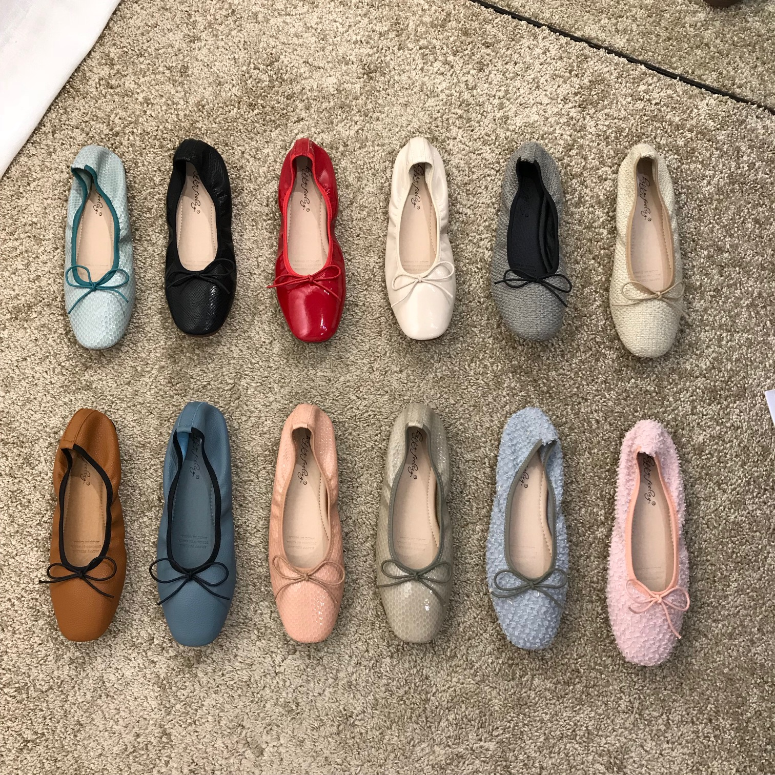 Single shoes womens new summer ballet in 2020 bow tie shallow mouth square head egg roll shoes granny flat shoes autumn 40