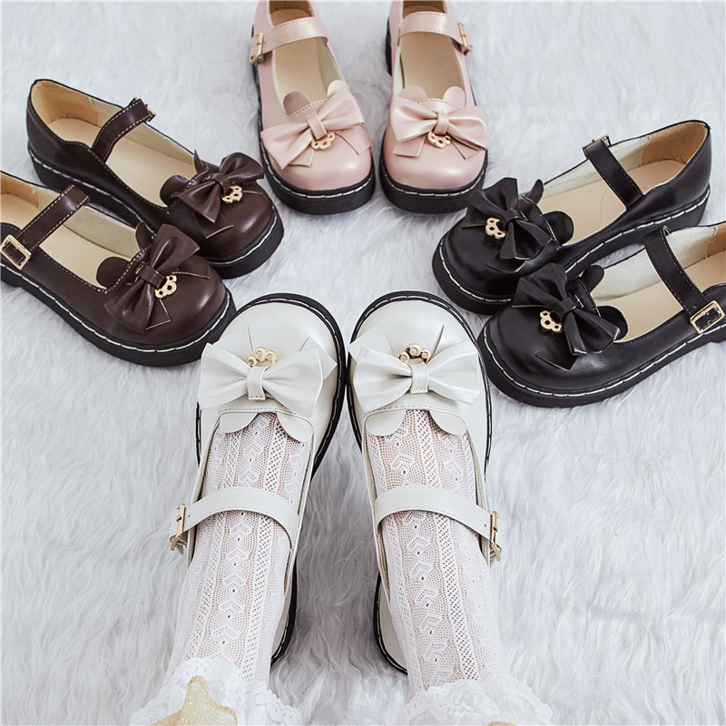 Japanese Lolita Lolita lace soft girls shoes meilulu low heel JK uniform small leather shoes round head Lo girls shoes