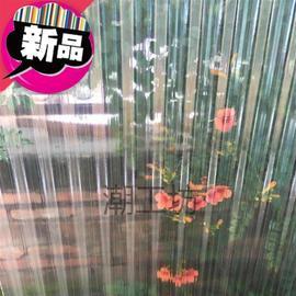 玻璃c钢采m光瓦透明加厚彩钢全包亮瓦屋顶雨蓬电动防水k支架钢化