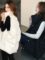 2020年新款羽绒棉服马甲女轻薄白鸭绒韩版加厚冬季外穿中长款背心
