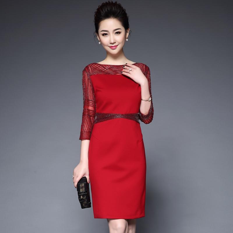 12月01日最新优惠参加婚礼妈妈装夏中老年女装连衣裙