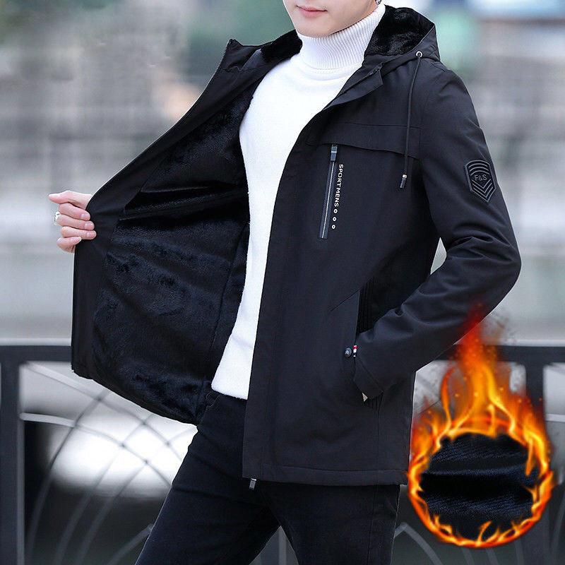休闲青年男士风衣中长款韩版夹克
