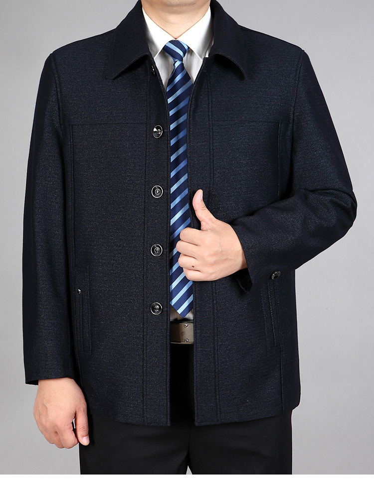 . Spring and autumn middle-aged and old people fat old man father old man jacket coat add fat oversize coat