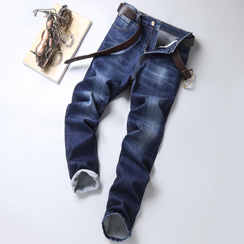 新款男式蓝色直筒牛仔裤男士水洗牛子裤男土宽松牛仔库百搭长裤子