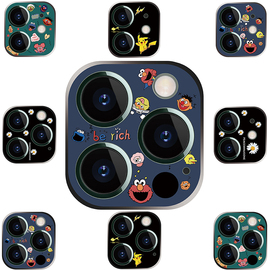 芝麻街蓝色苹果12promax镜头膜iphone12pro镜头贴ip12mini摄像头贴膜钢化玻璃全覆盖IP12后镜头膜十二镜头盖