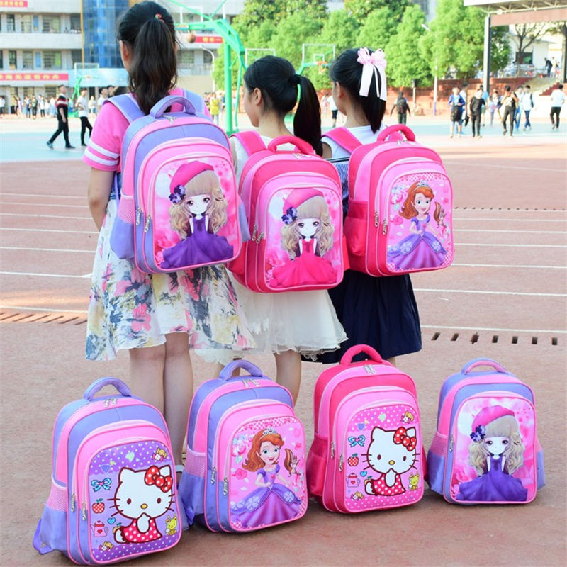 Pupils'schoolbags Girls' schoolbags for grade 1-2-3-6 Girls'backpacks