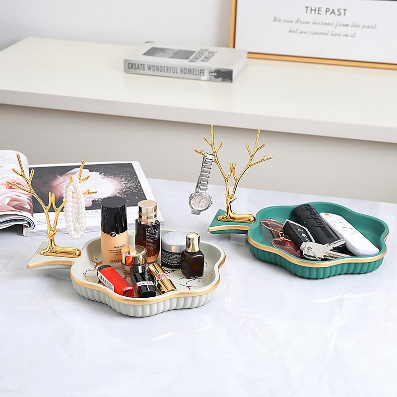 创意简约现代收纳盒进门钥匙收纳架玄关桌面杂物化妆品轻奢收纳盒淘宝优惠券