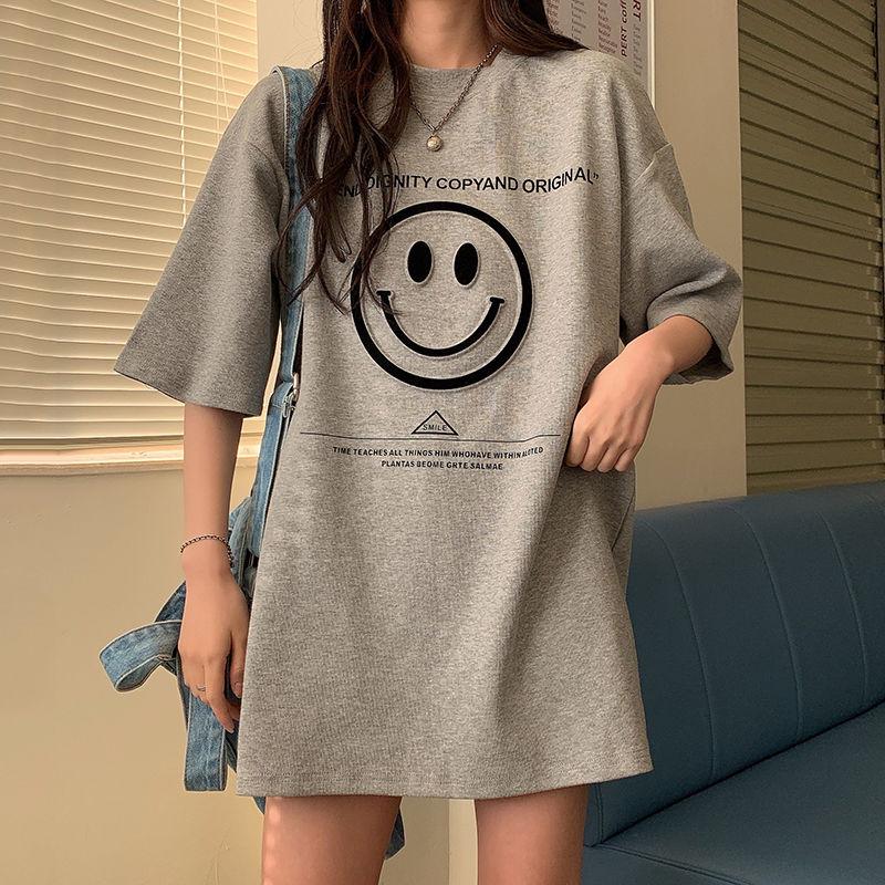 2021春夏季韩版短袖t恤女半袖体恤衫上衣打底衫宽松女装bf学生潮