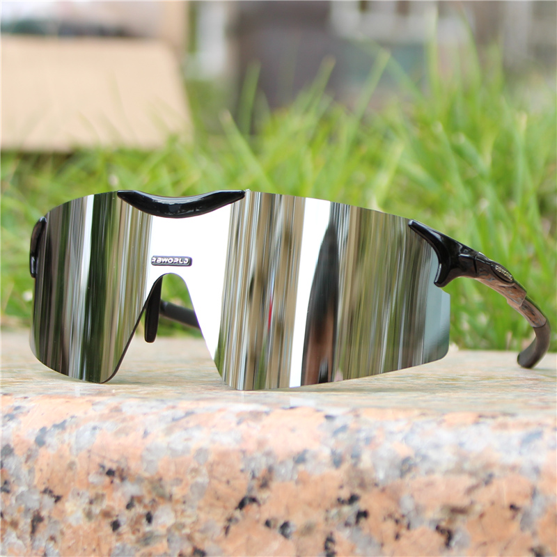 Cylindrical ultra light rimless riding glasses sunglasses outdoor sports windproof sand mens and womens marathon running fishing glasses