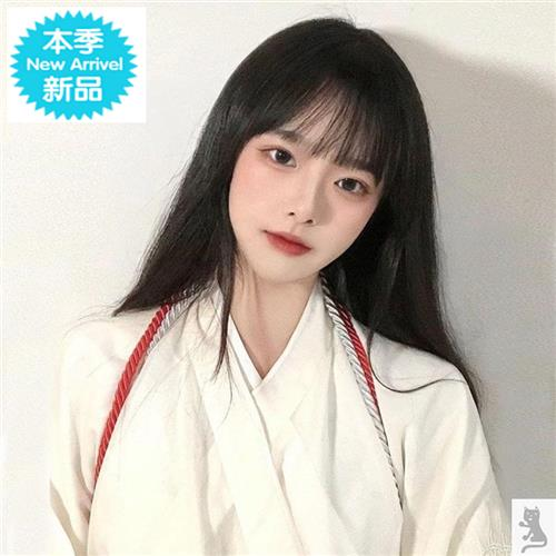 Fairy Girl Wig net red hanging ear Q medium long hair round face hair bundle fashion stage role play Japanese long hair
