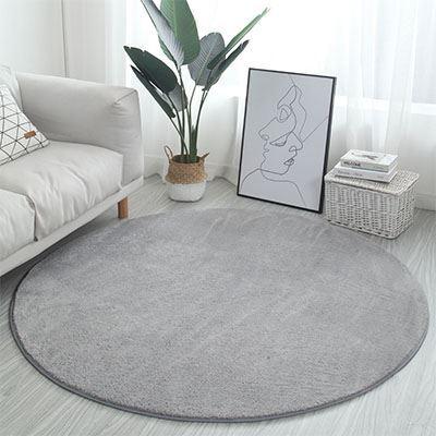 北欧ins圆形地毯卧室少女免洗客厅床边毛毯吊篮电脑椅地垫瑜伽垫