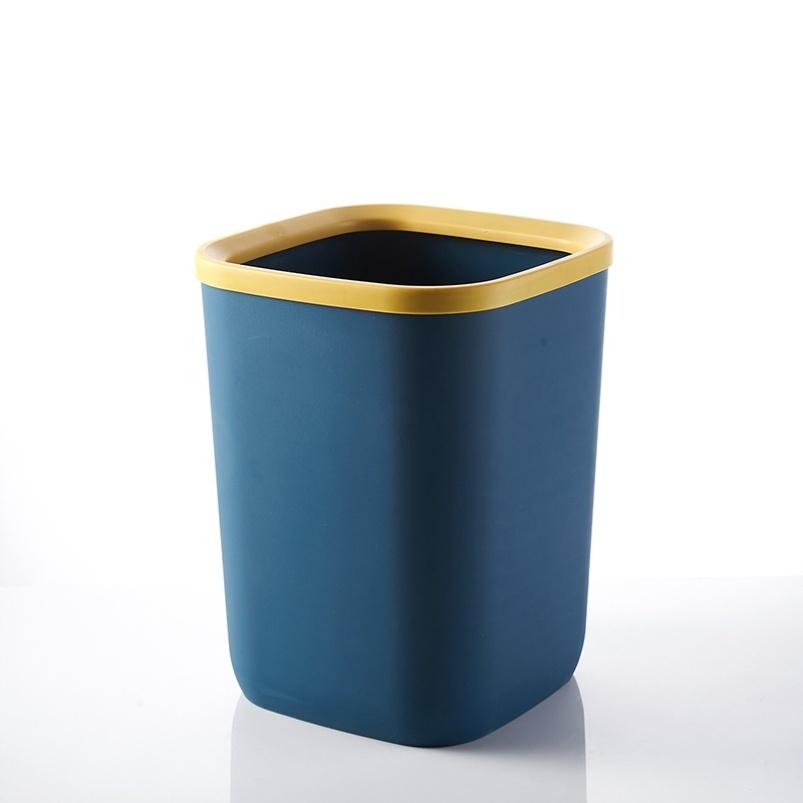 北欧风方形垃圾桶宿舍厨房卫生间家庭无盖大学简约可爱马桶纸轻奢