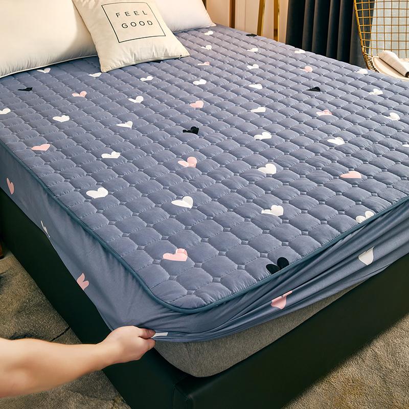 床笠单件夹棉加厚席梦思床垫保护套床单防滑固定床罩全包防尘罩套