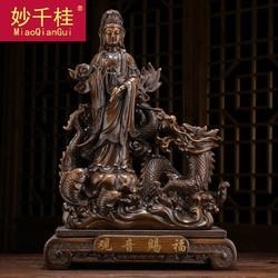 观音赐福摆件佛像供奉家用观世音菩萨保平安家居客厅房间布置摆设