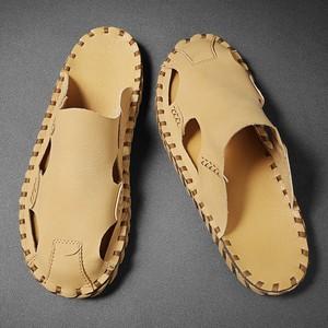 男鞋夏季新款时尚潮流包头洞洞凉拖个性休闲平底男士外穿凉鞋