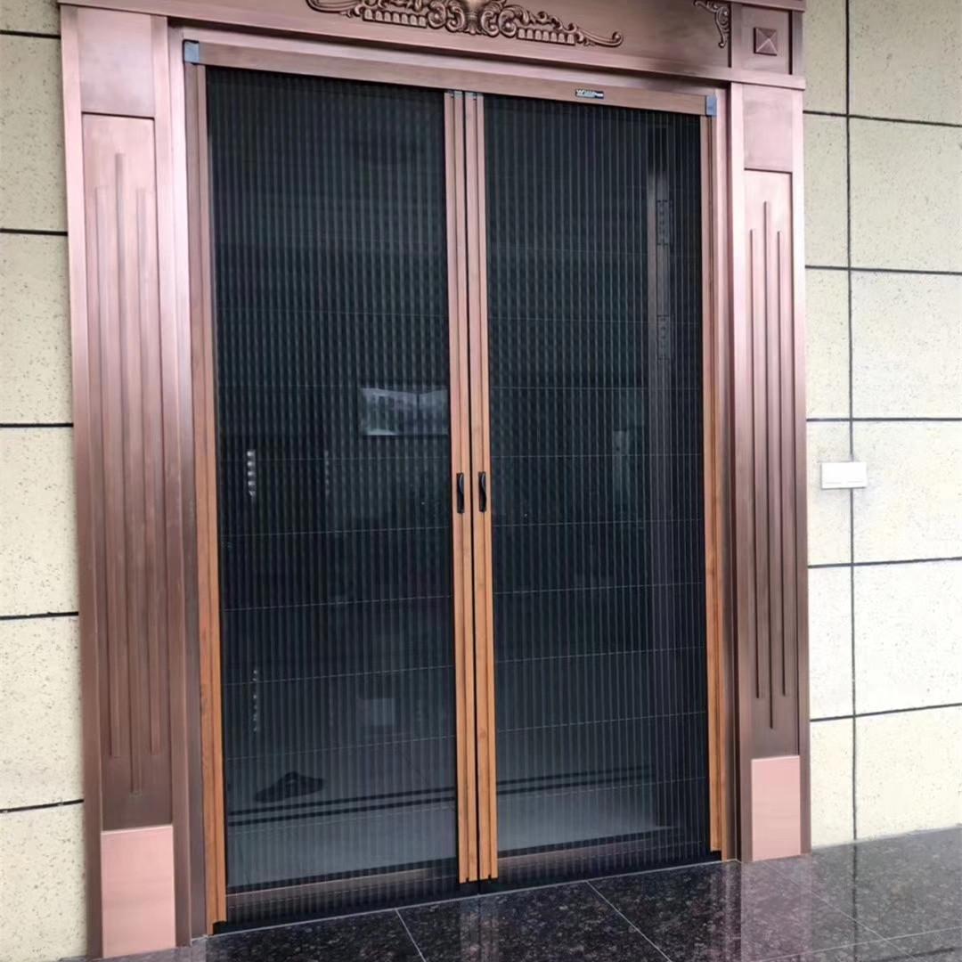 Trackless screen door, mosquito screen door, folding door, sliding door, invisible folding retractable magnetic self installing window, Salmonella customization