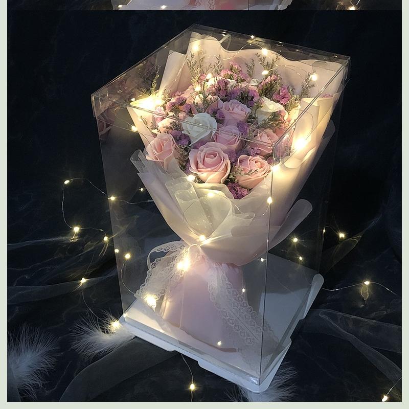 情人节送女友礼物老婆生日礼品女生闺蜜特别惊喜盒子网红花束