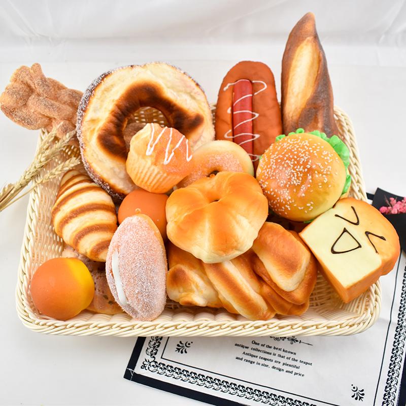 仿真面包模型软香味假汉堡食物摆件样板水果摆设拍摄道具蛋糕。
