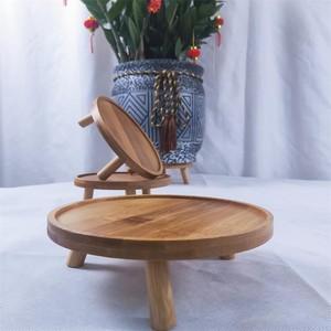 花盆底座托架实木茶壶花瓶石头奇石香炉木托盘架圆形摆件实木花架