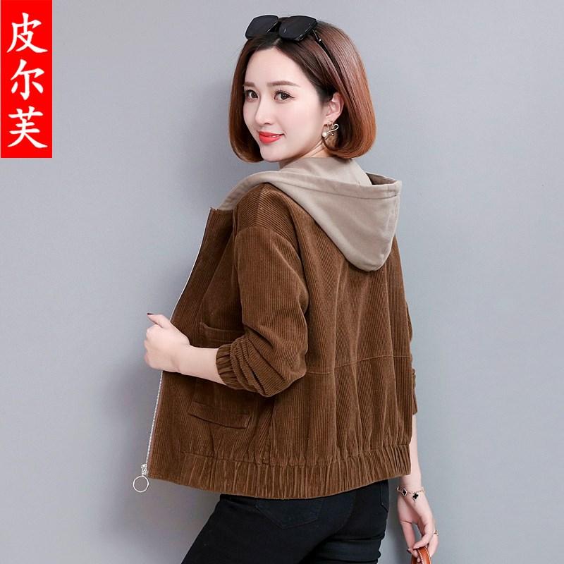 短外套女装秋冬棉衣2020新款宽松bf百搭休闲矮个子灯芯绒夹克女士