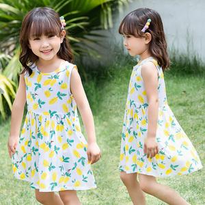 棉绸洋气女宝宝公主儿童夏装连衣裙