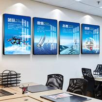 定制公司企业文化挂画办公室装饰画励志海报标语公司文化墙壁画