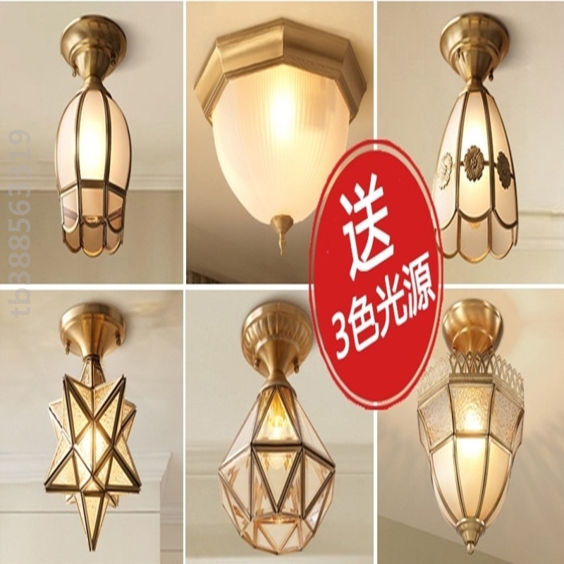 Store room American country ceiling lamp family 2020 new LED living room atmosphere small toilet Office