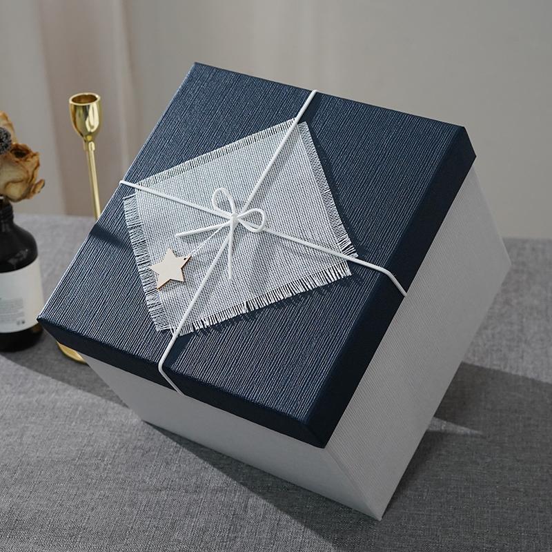 正方形礼品盒超大伴手礼礼物盒大号礼物包装盒生日送礼盒包装盒子