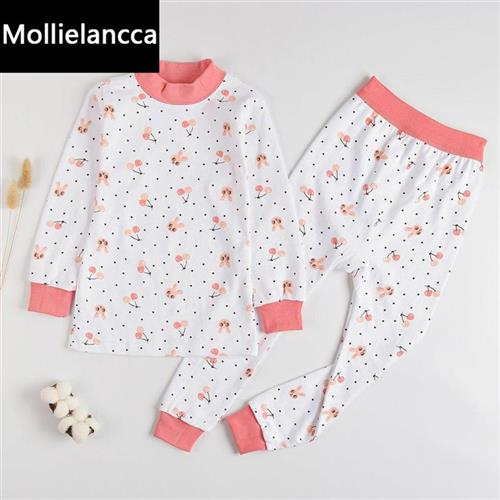 . 3-17 years old childrens underwear suit mens and womens Z childrens autumn clothes, autumn pants, middle school childrens high and low collar cotton sweater home