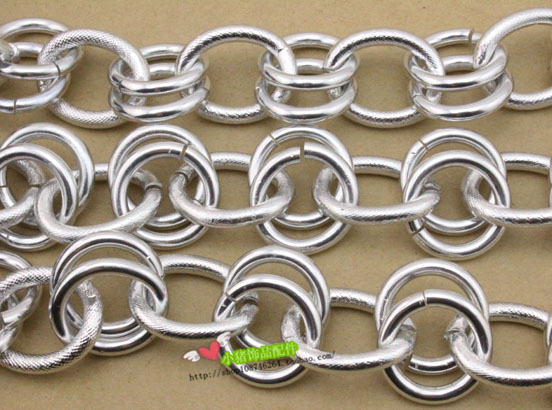 Metal chain bag chain waist chain accessories materials gold silver aluminum chain round o chain sdiy jewelry accessories double strand thick