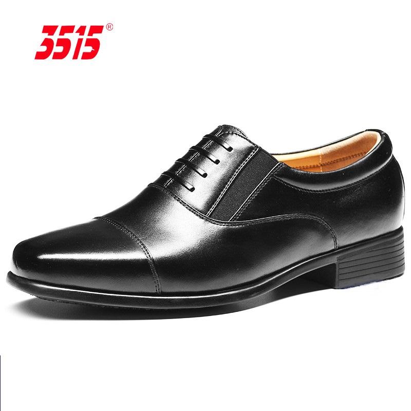 3515强人男夏季镂空头层牛皮皮鞋春秋商务超轻正装德比三节头男鞋