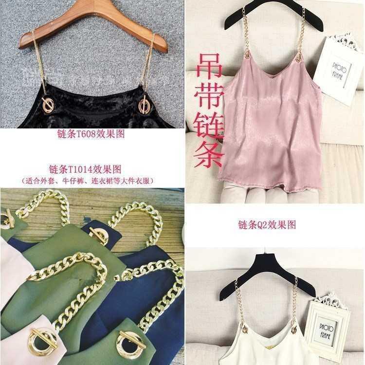 Low cut student dress sling skirt accessories shoulder strap chain off shoulder womens one shoulder bag top