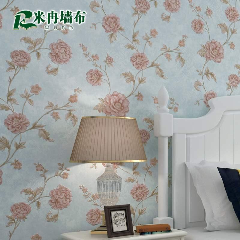 アメリカ式の小さい花の部屋の寝室はシームレスで、リネンの壁掛けの客のレストランのテレビの背景の壁の全部屋は軽奢な風の壁布を使います。