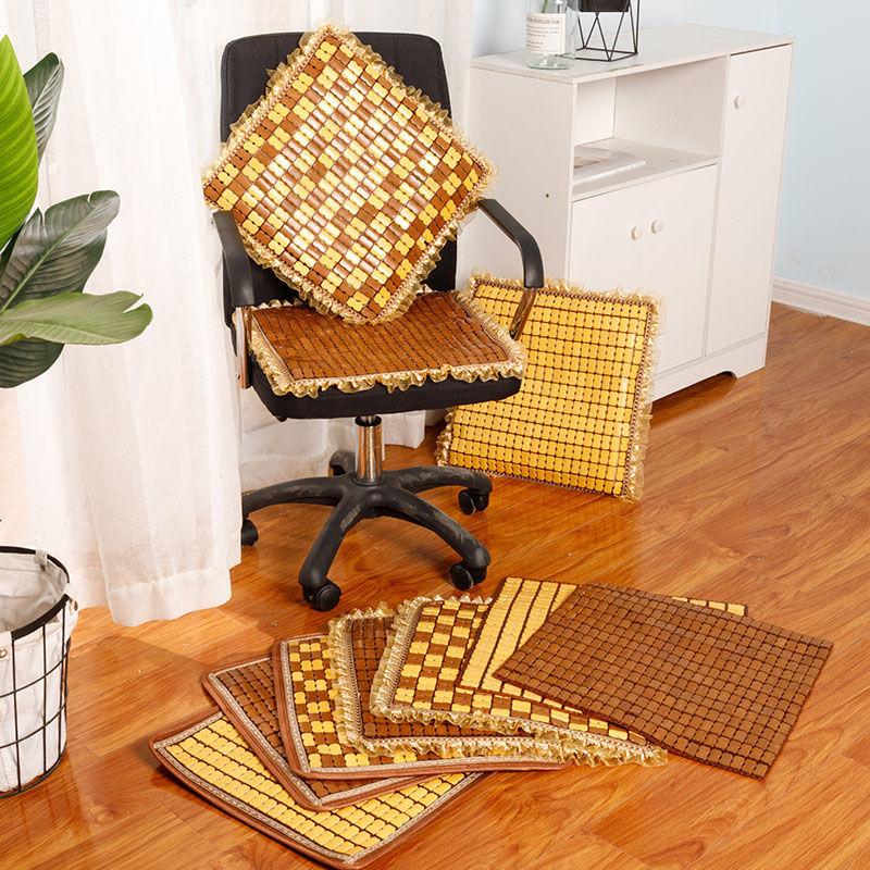 夏季麻将椅子坐垫学生电脑椅竹垫夏天防滑海绵汽车凉席办公室座垫