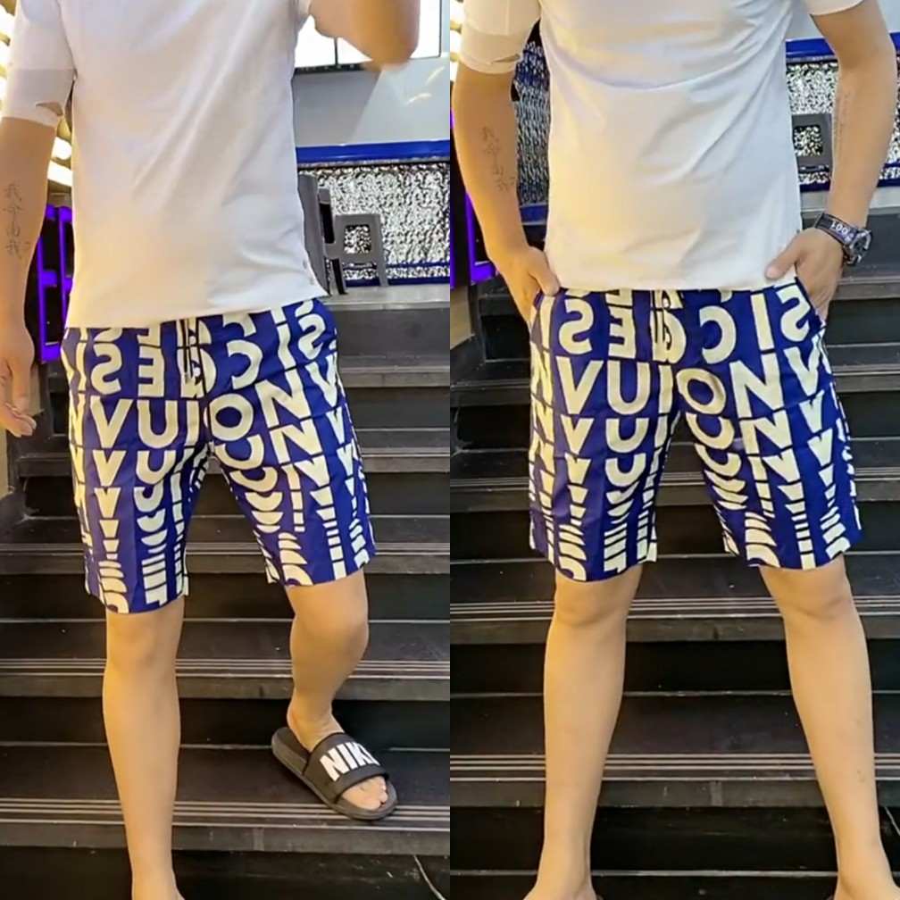 66010 summer mens Capris casual thin breathable refreshing Decor pattern Fashion breathable shorts trend