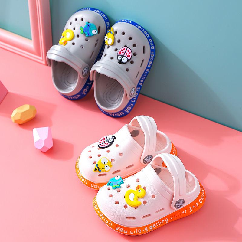 宝宝凉鞋男夏可爱卡通包头防撞凉拖鞋小女孩居家软底婴幼儿学步鞋