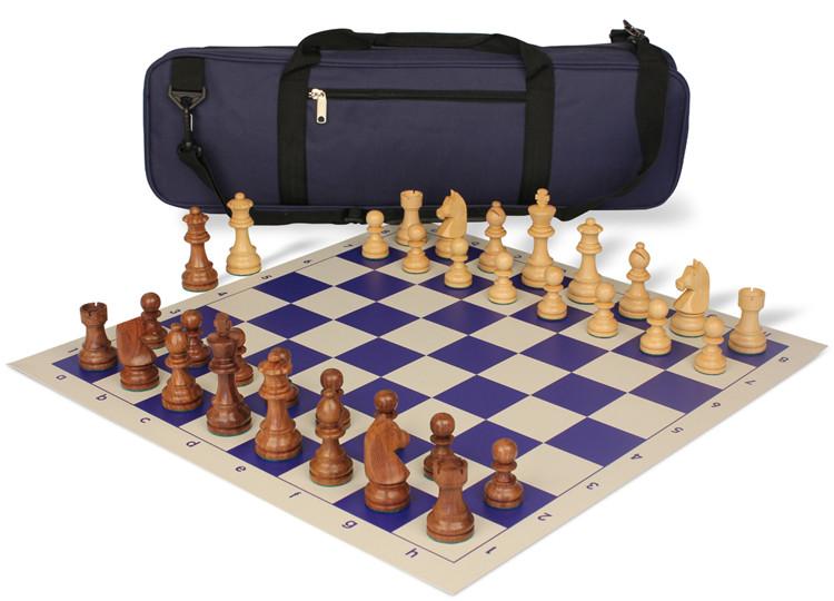 。1chess国际象棋实木斯汤顿棋子专家系列国际象棋背包棋盘棋子套