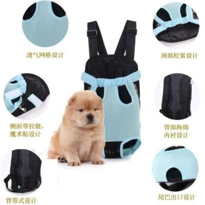 New dog bag Dog Backpack go out Bomei tail mouth cat backpack medium sized dog hands free portable chest