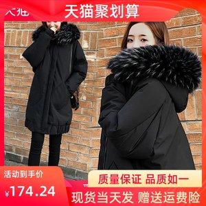 羽绒棉服女中款2020冬季新款韩版宽松棉衣棉袄大毛领茧型外套棉衣