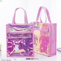 装画画作品的袋子画画袋子手提小学生简约补习袋美术中小学生美术