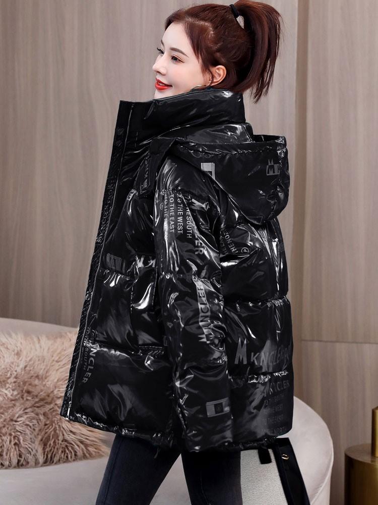 冬季亮面羽绒棉服2020年新款女装爆款棉衣中长款棉袄ins厚外套潮