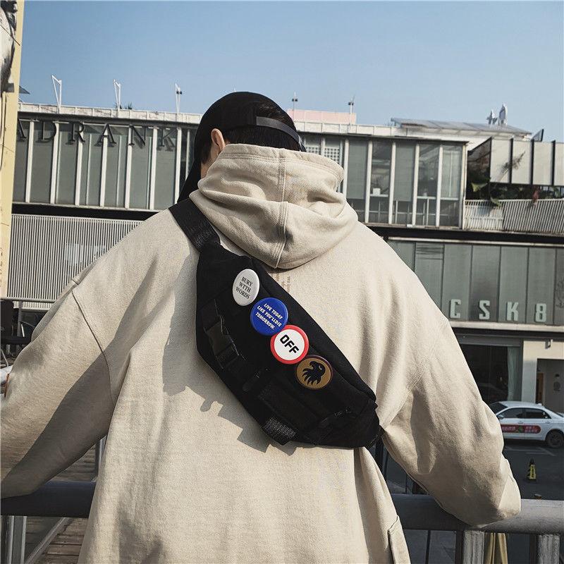 中國代購|中國批發-ibuy99|斜挎包|斜挎包男士休闲胸包日系潮牌学生男生运动挎包ins时尚百搭单肩包