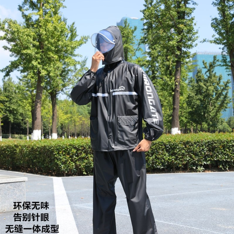 Raincoat mens takeaway rider equipment delivery in rainy days