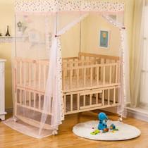 日本购支架原木白色中床睡觉双胞胎婴儿床上用品医院实木松木手工