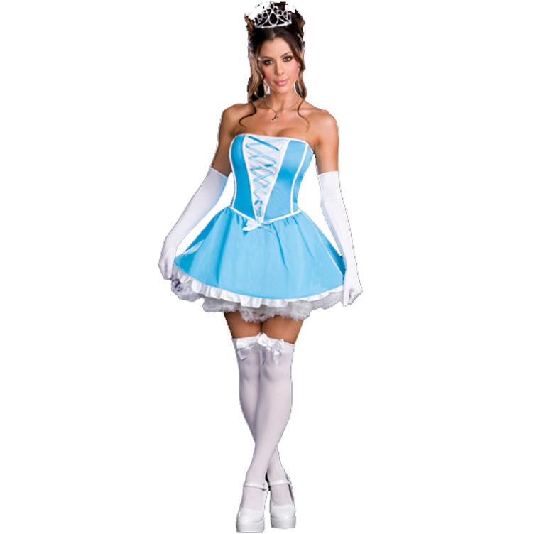 ゲームの制服の欧米の女性のハロウィンの服装の役は外国貿易の女性式のセクシーな白雪姫のスカートを演じます。